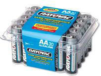 RAYOVAC AA Cell Alkaline Battery 30 pack